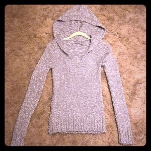 Daytrip silver gray hooded pullover sweater